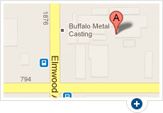 Map of Buffalo Metal Casting